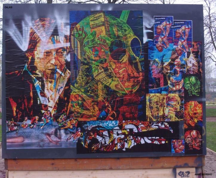 Street Art le long du parc