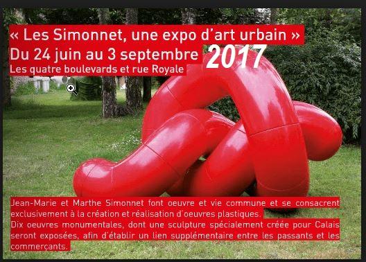 En 2017 les artistes Simmonet exposent dans Calais