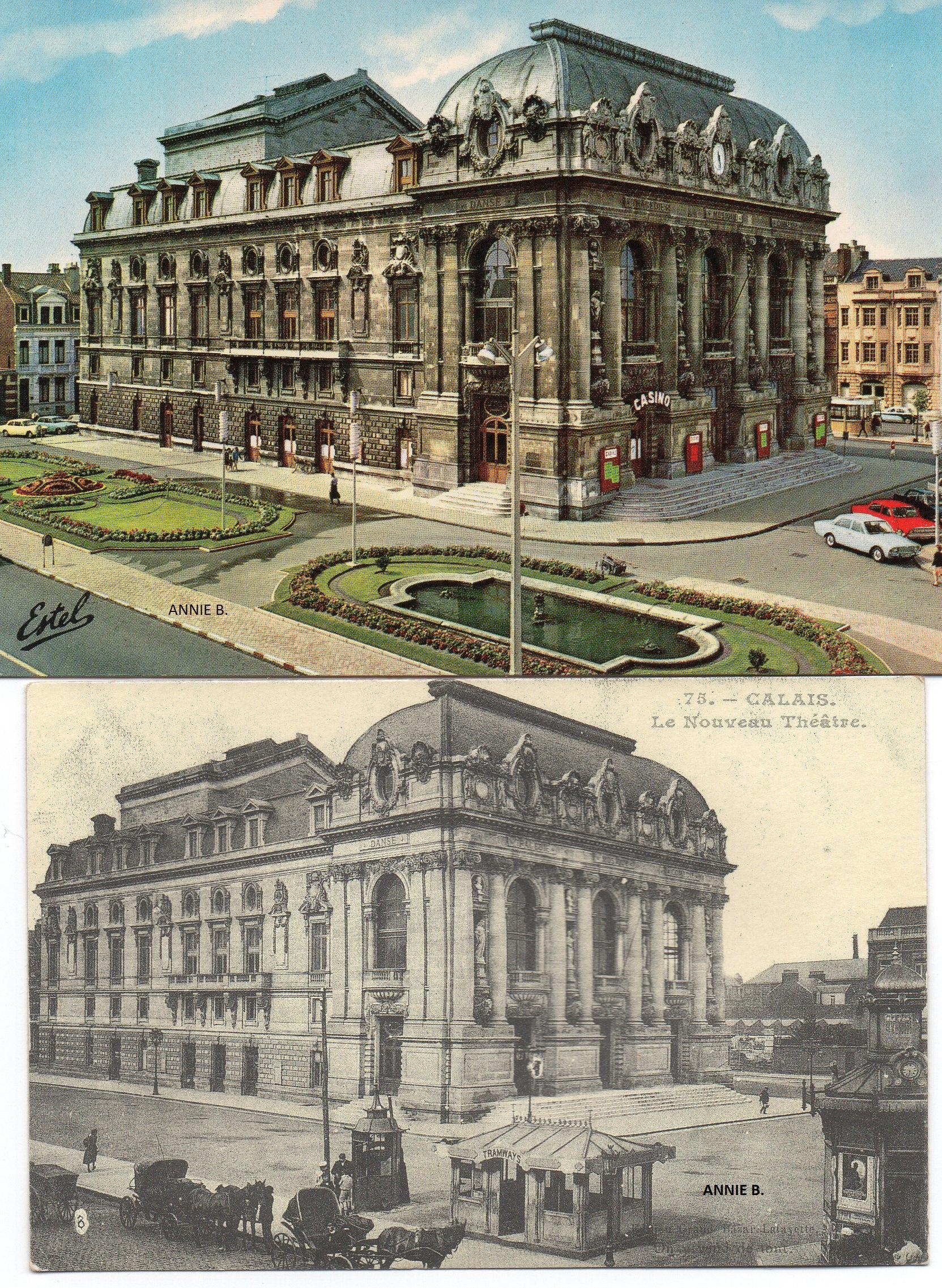 Carte postale d'autrefois du théâtre de Calais