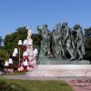 Les Six Bourgeois devant la mairie de Calais
