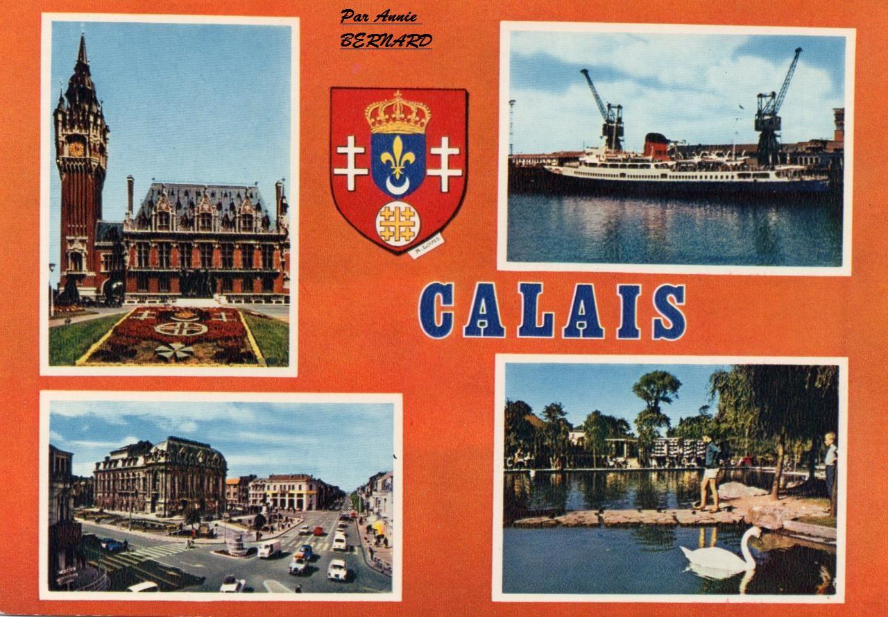 Carte postale rétro sur Calais