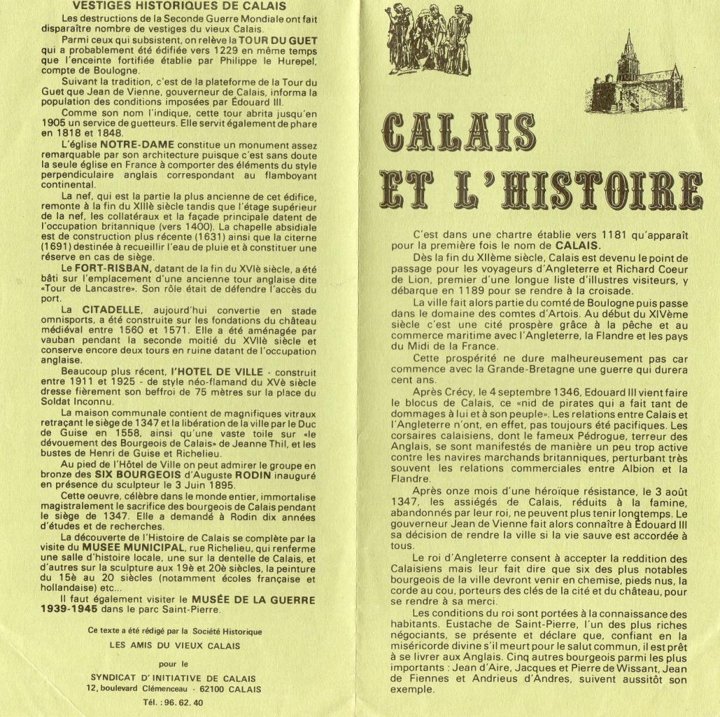 L' histoire de Calais