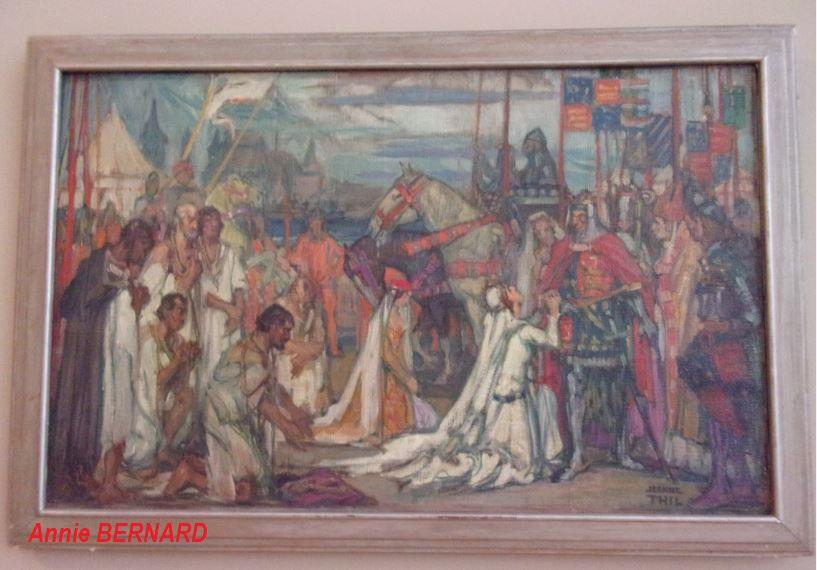 Une peinture avec les Six Bourgeois de Calais