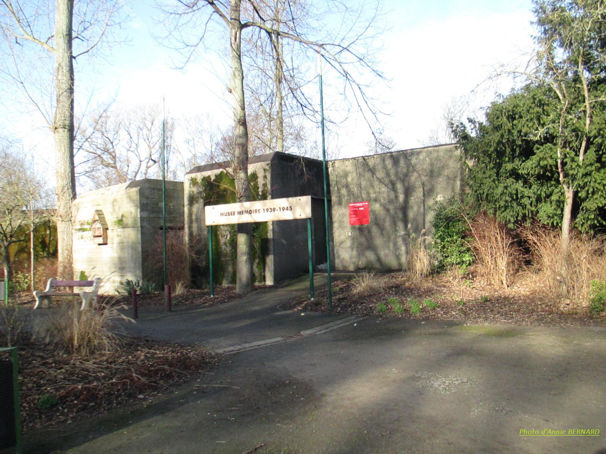 Musée mémoire 1939-1945 dans le parc Saint-Pierre