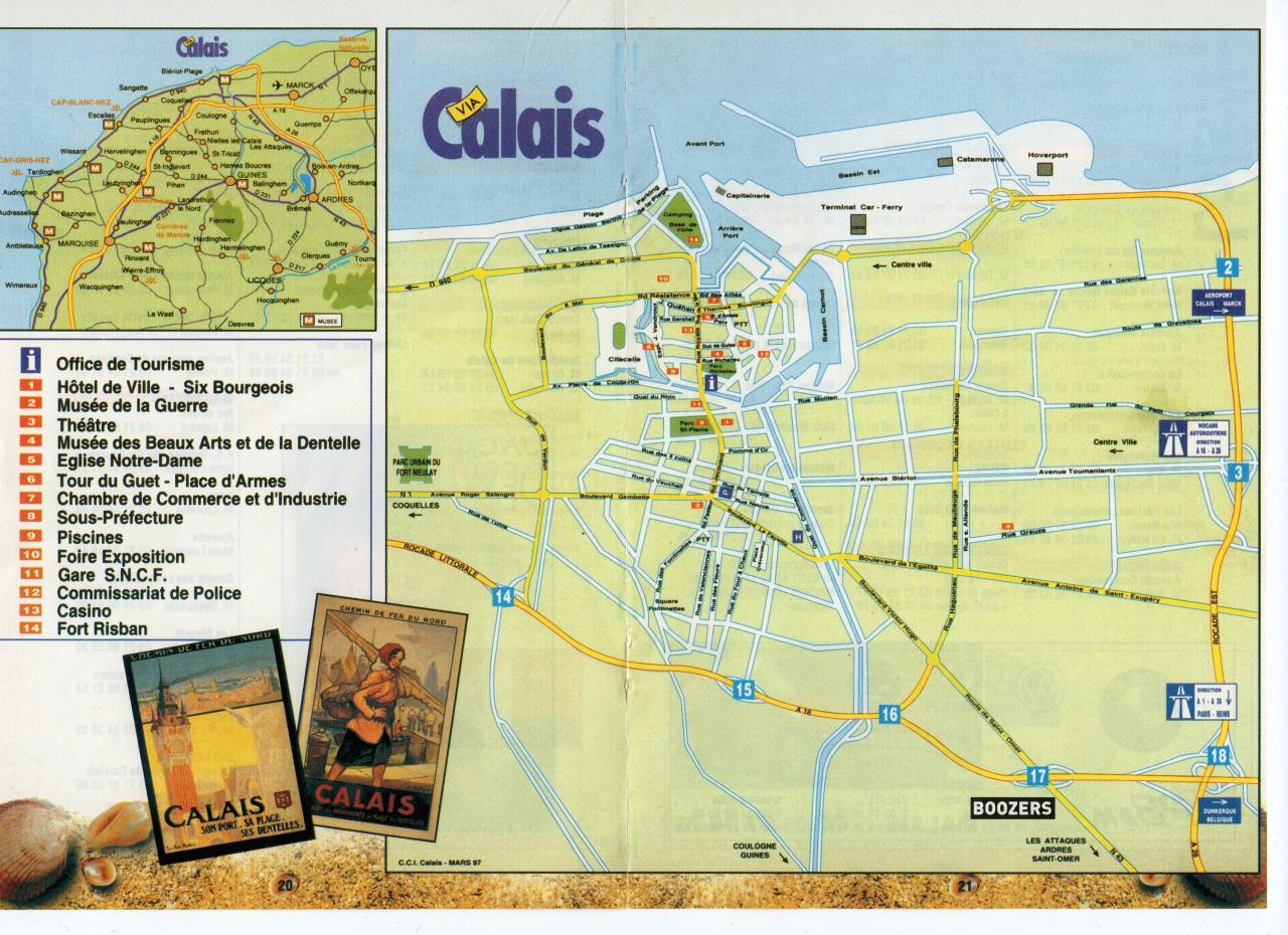 Plan de la ville de Calais