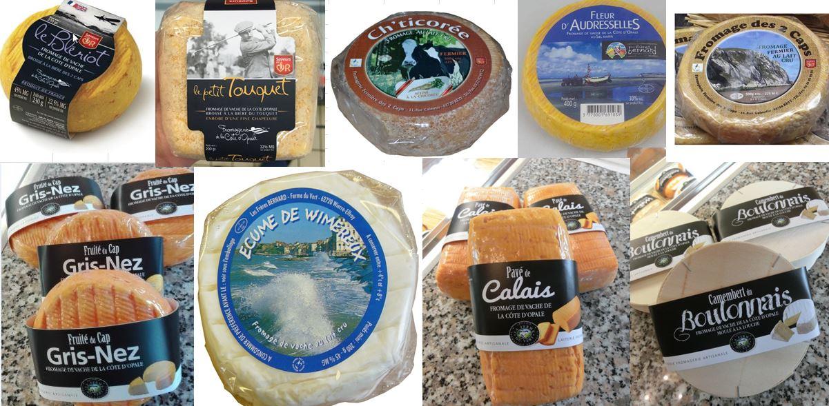 Des fromages de la côte d'Opale