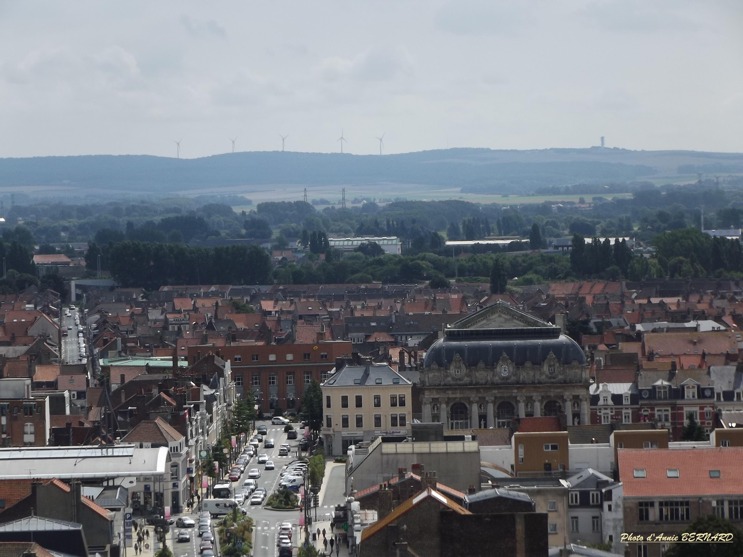 Le centre ville et le haut du théâtre