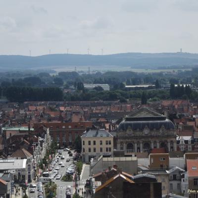 Calais vu d'en haut, depuis le beffroi