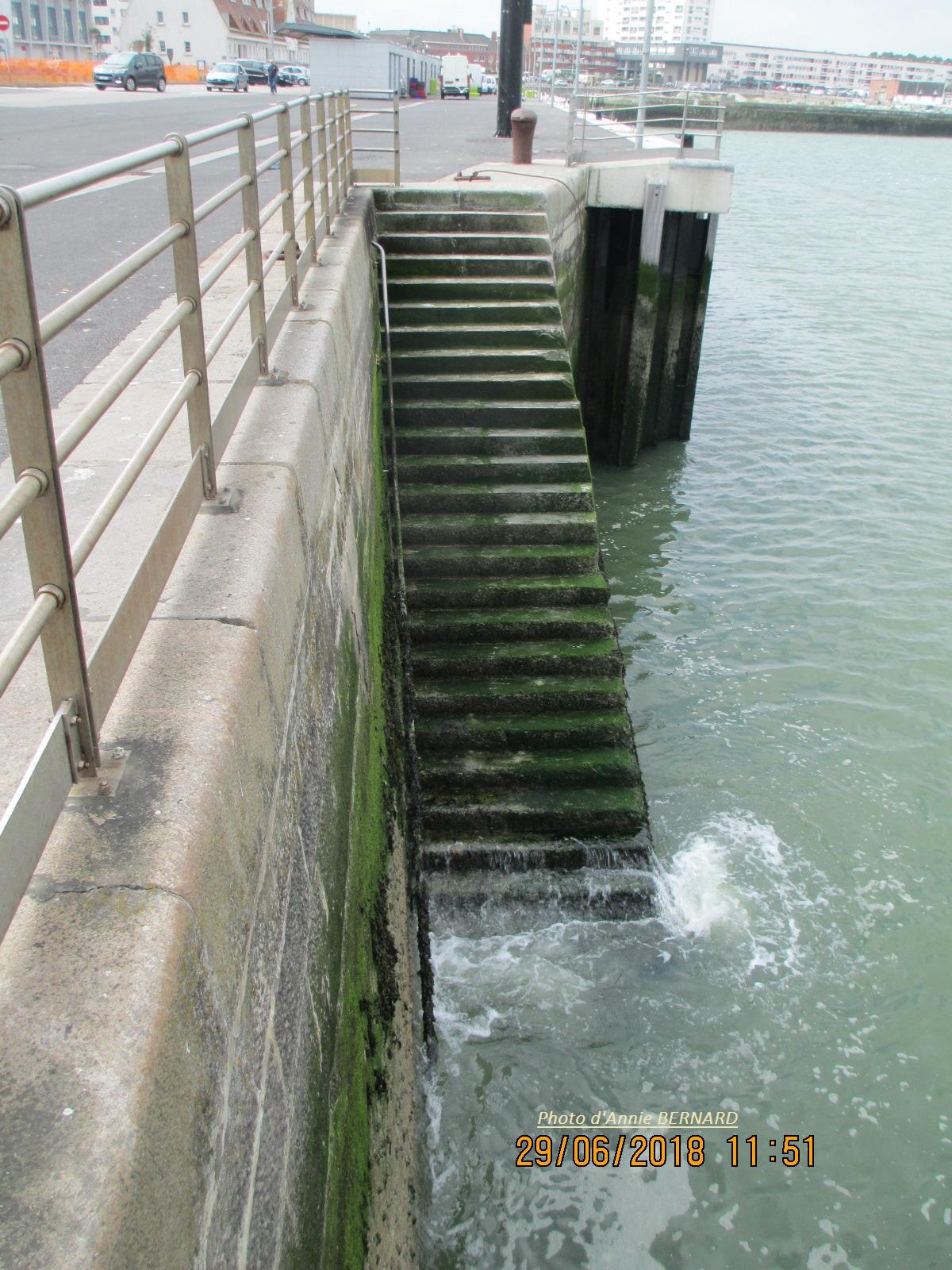 Escalier descendant dans la mer