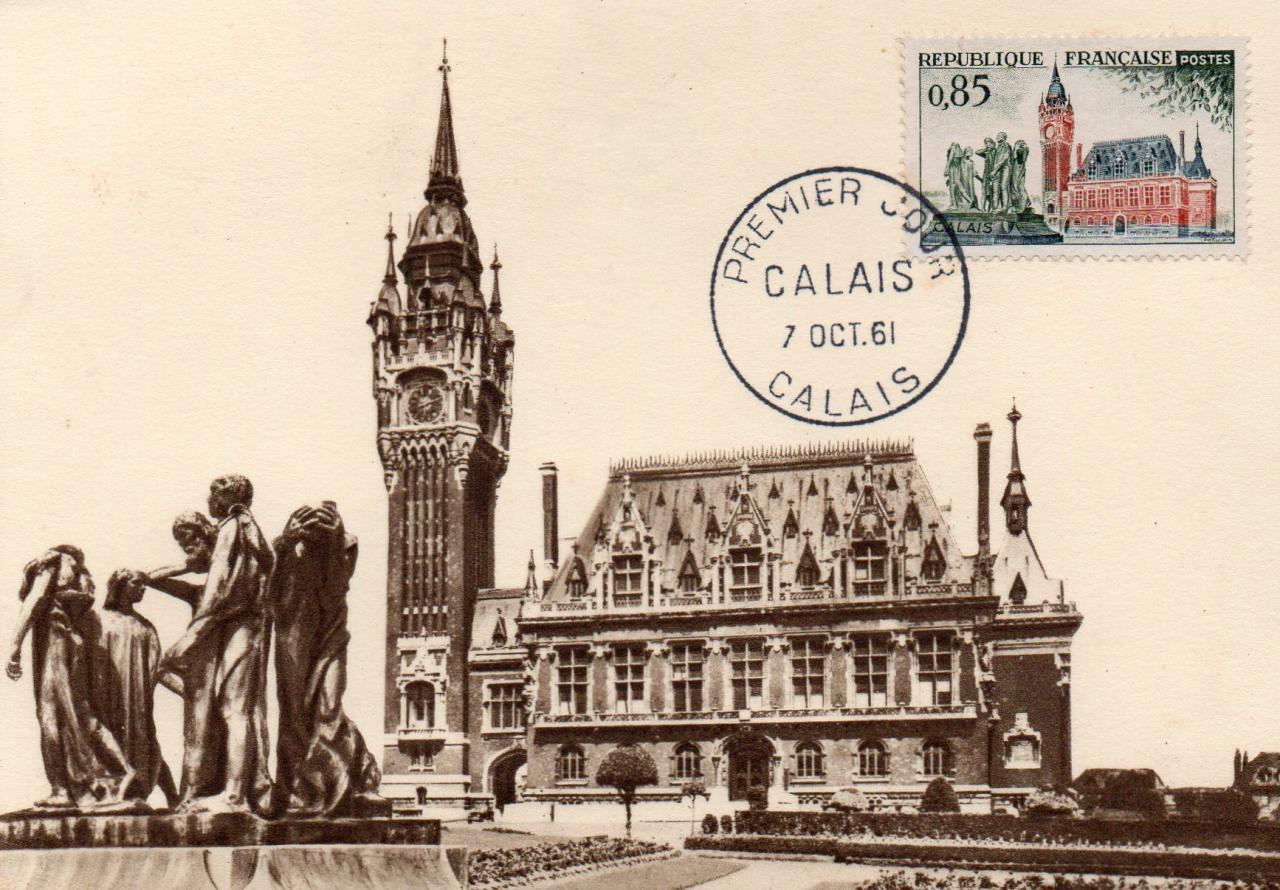 1961, Les six Bourgeois et la mairie de Calais