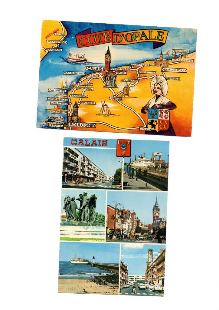 Calais, cartes postales