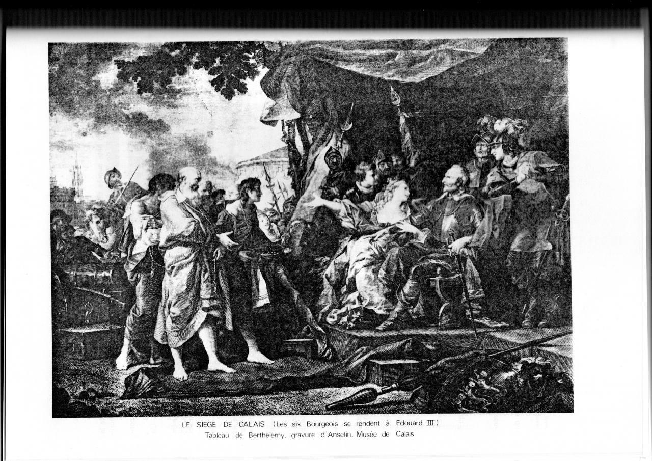 Le siège de Calais par Edouard III vers 1346