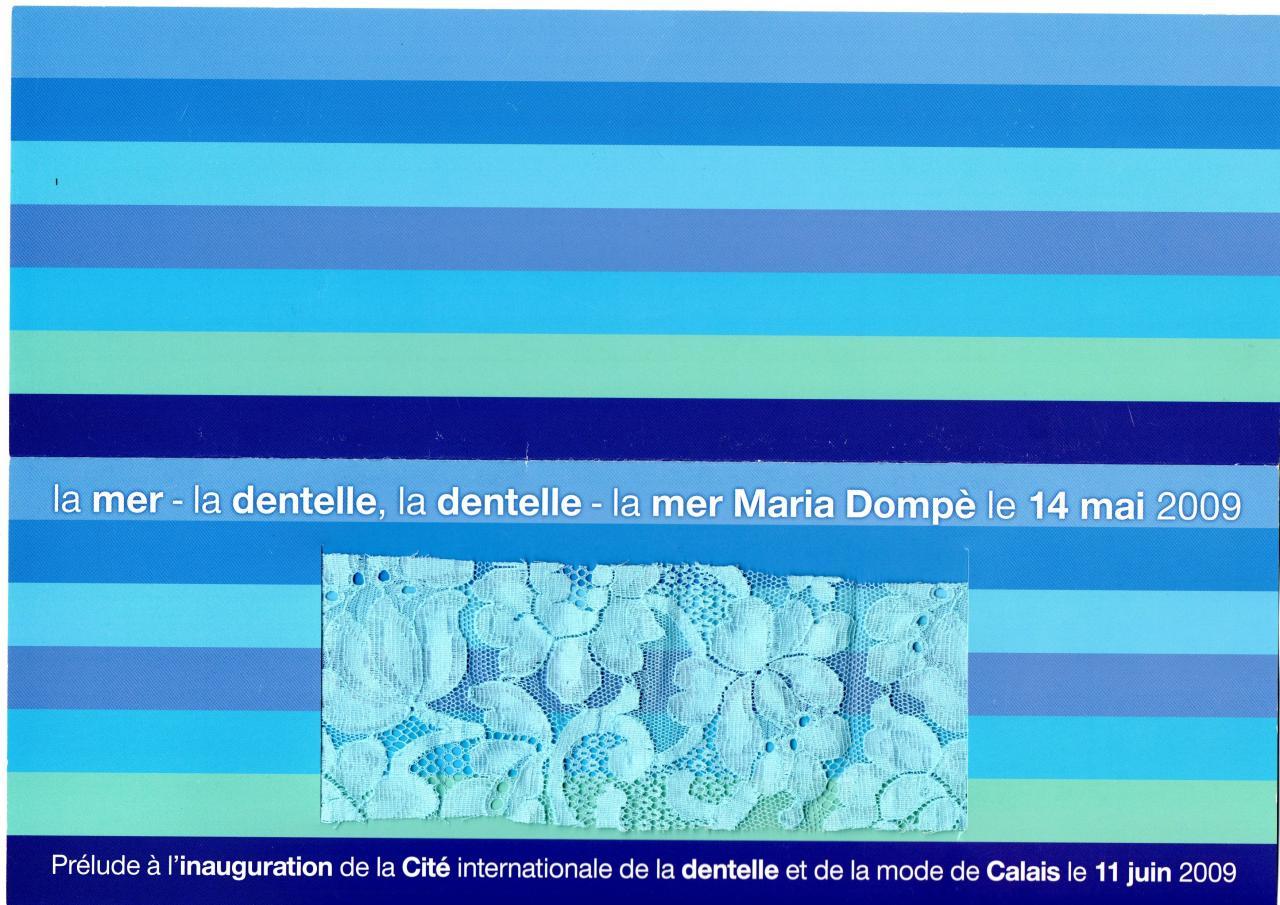 La mer, la dentelle et Maria Dompè
