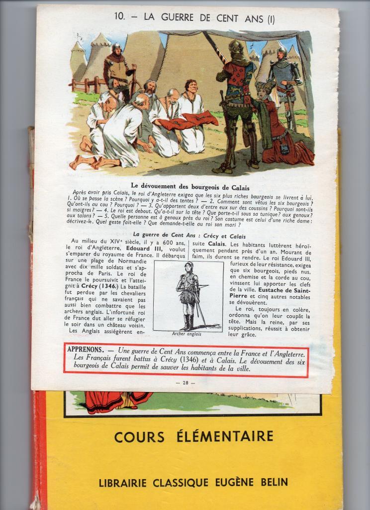 Le dévouement des six Bourgeois de Calais vers 1346