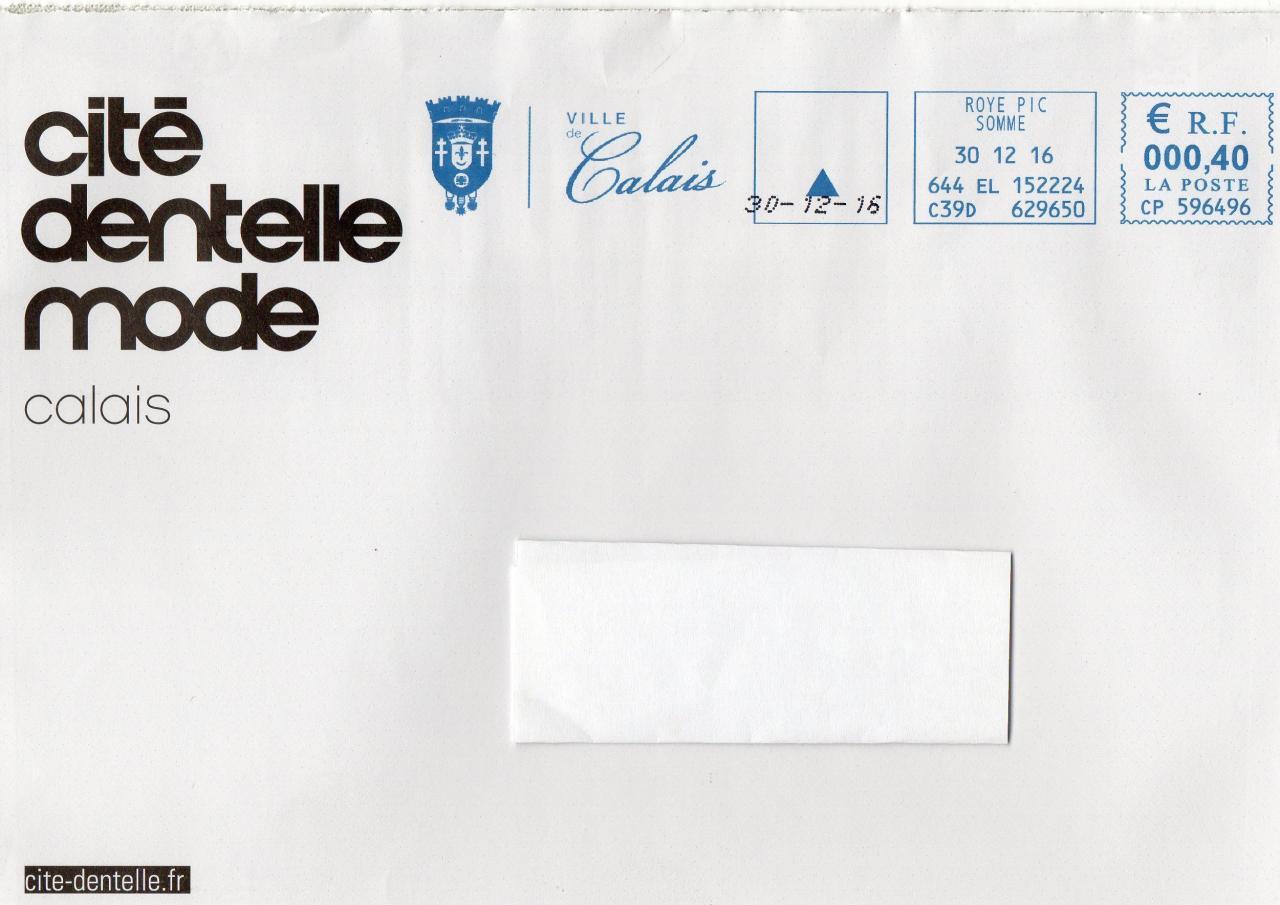 Enveloppe de la Cité Dentelle et de la  Mode