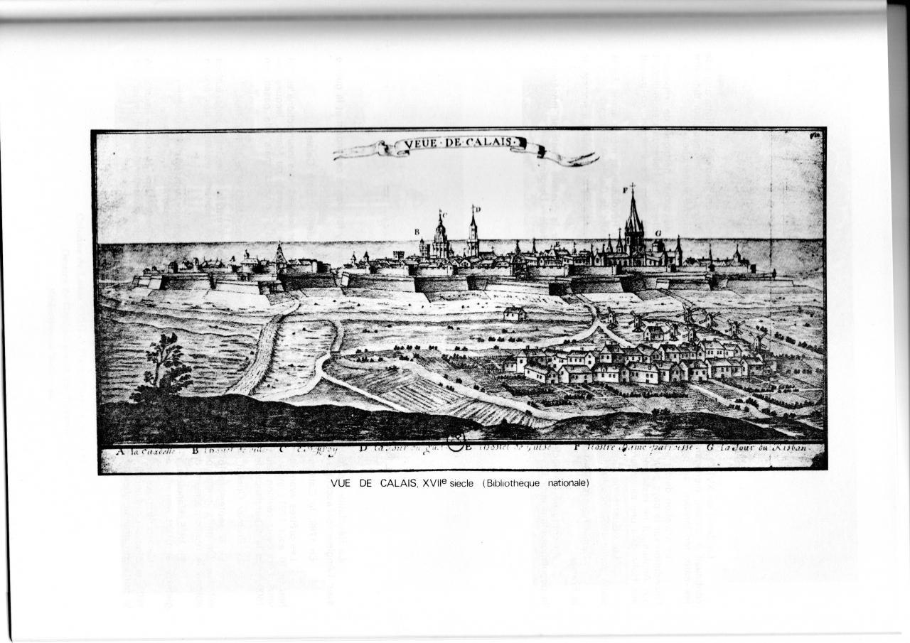 Vue de Calais au XVII siècle