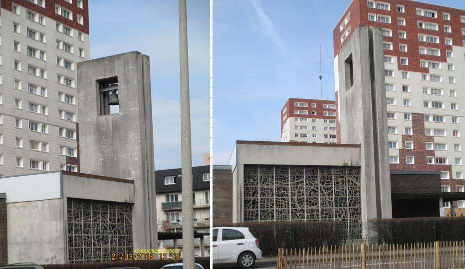 Quartier du Beau-Marais et l'église Saint-Nicolas édifiée entre 1971 et 1974