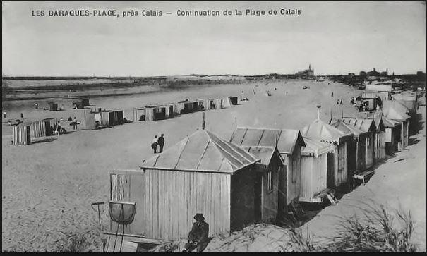 Les baraques à la Plage de Calais