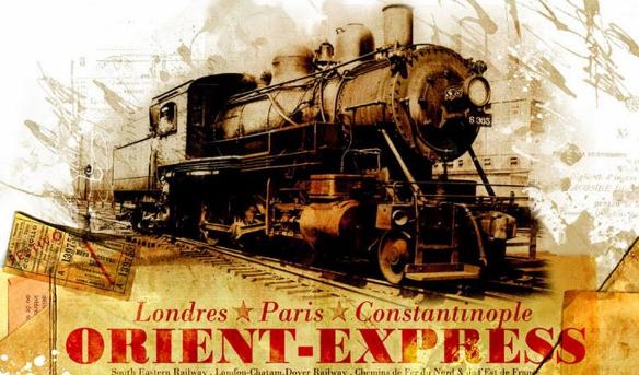 Le train l'Orient Express.. de Calais en Orient