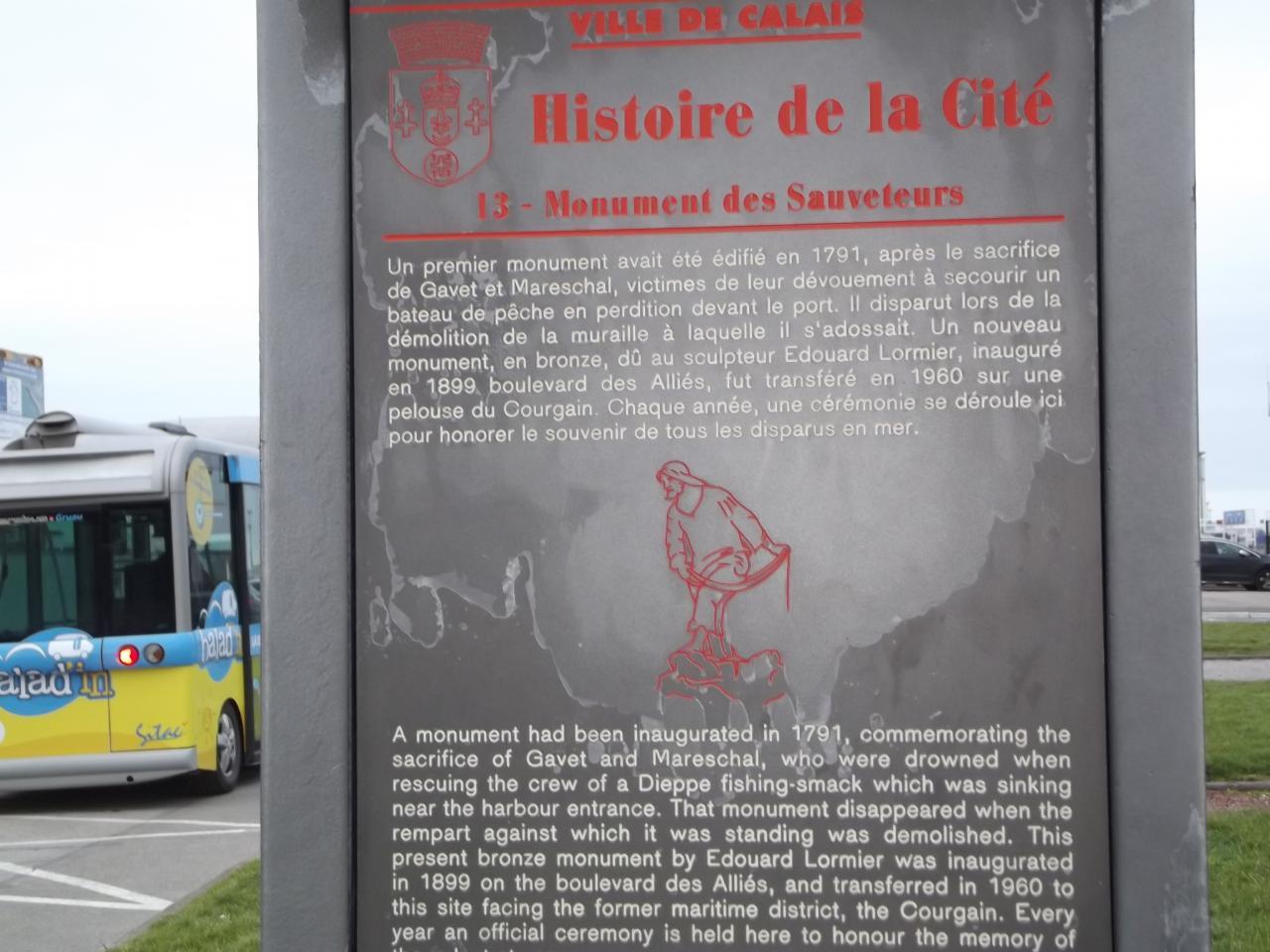 Quartier Courgain Maritime, monument des sauveteurs