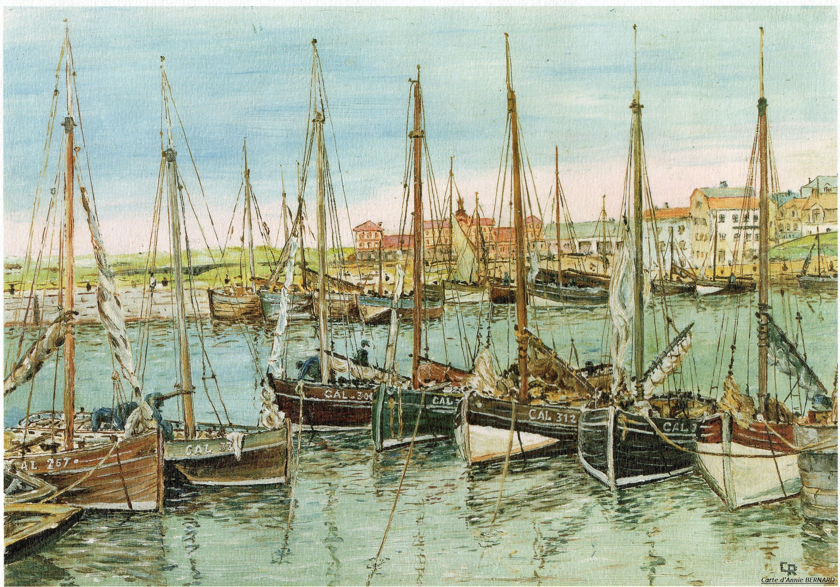 Calais rétro ,bateaux de pêche du siècle dernier