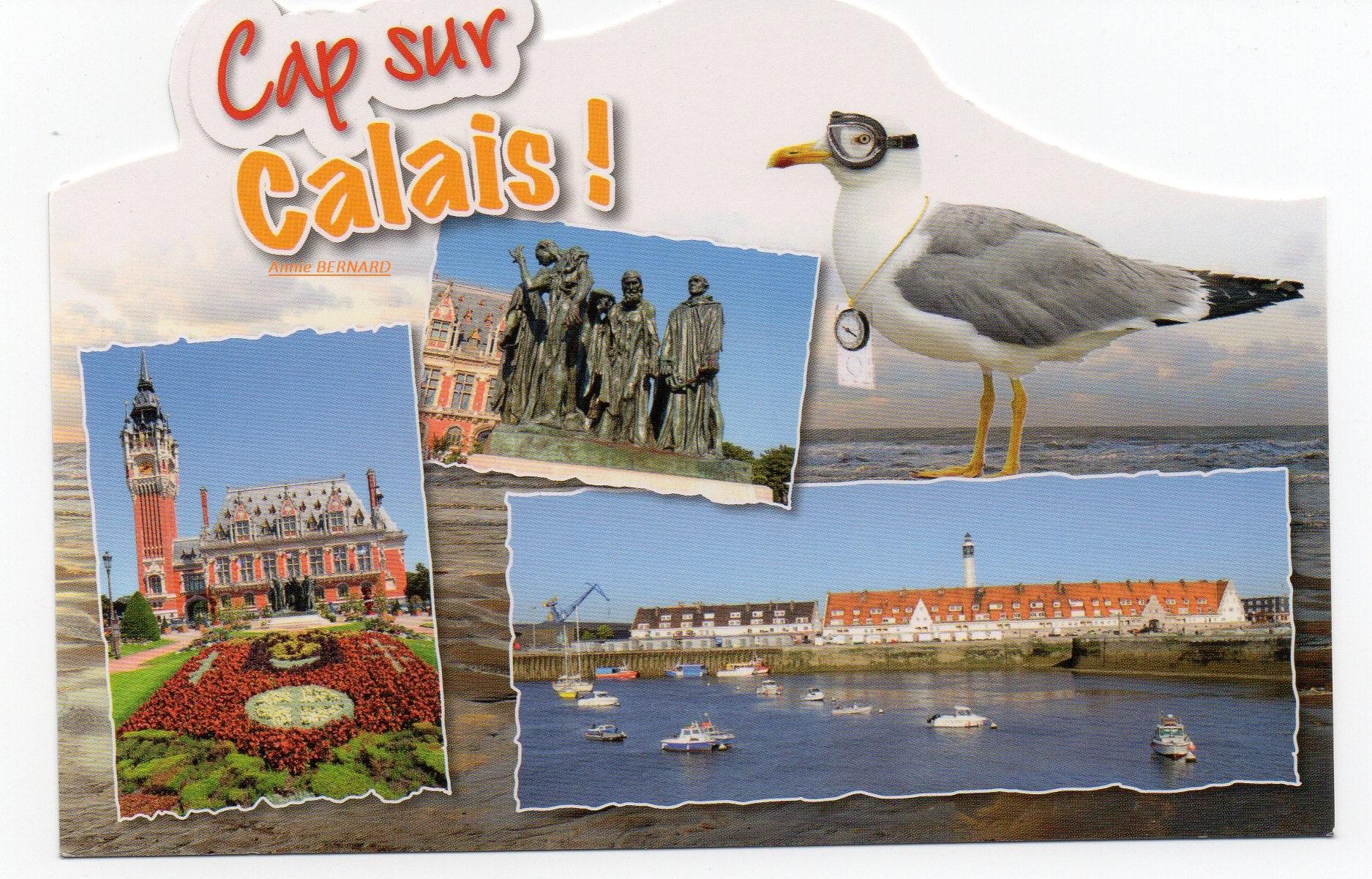 Carte postale sur Calais