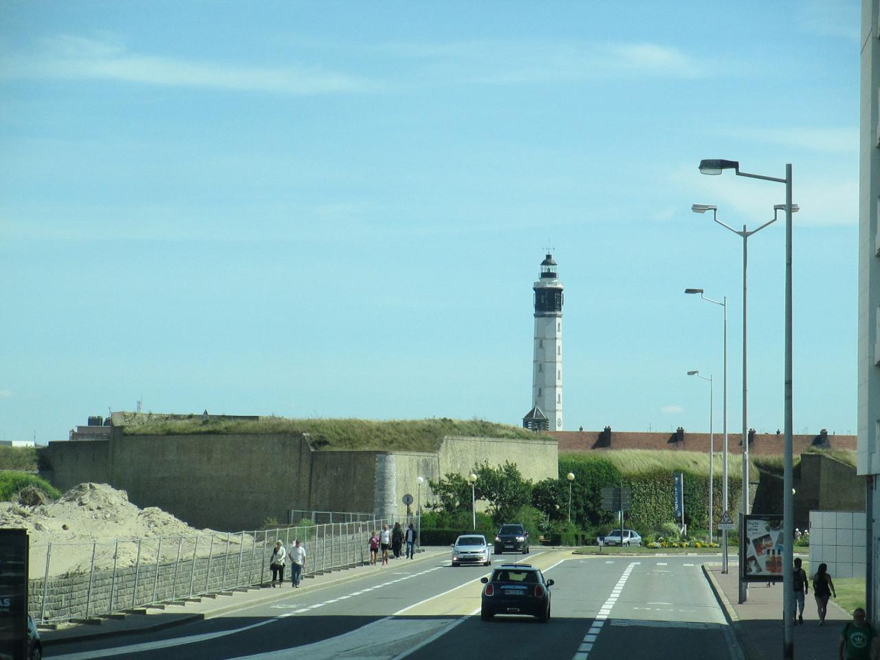 Calais,belle vue sur le Fort Risban et le Phare