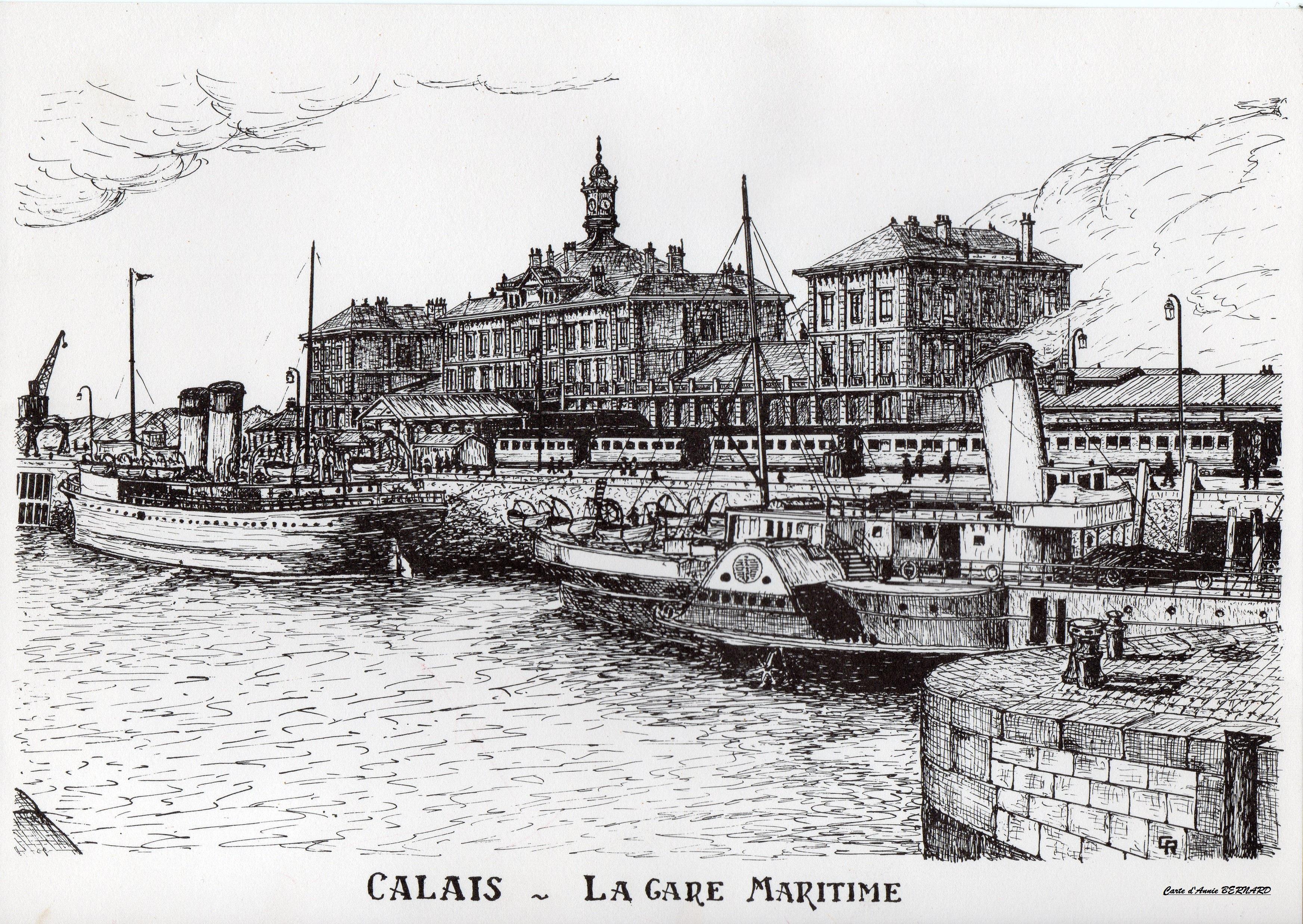 Calais rétro, la gare maritime