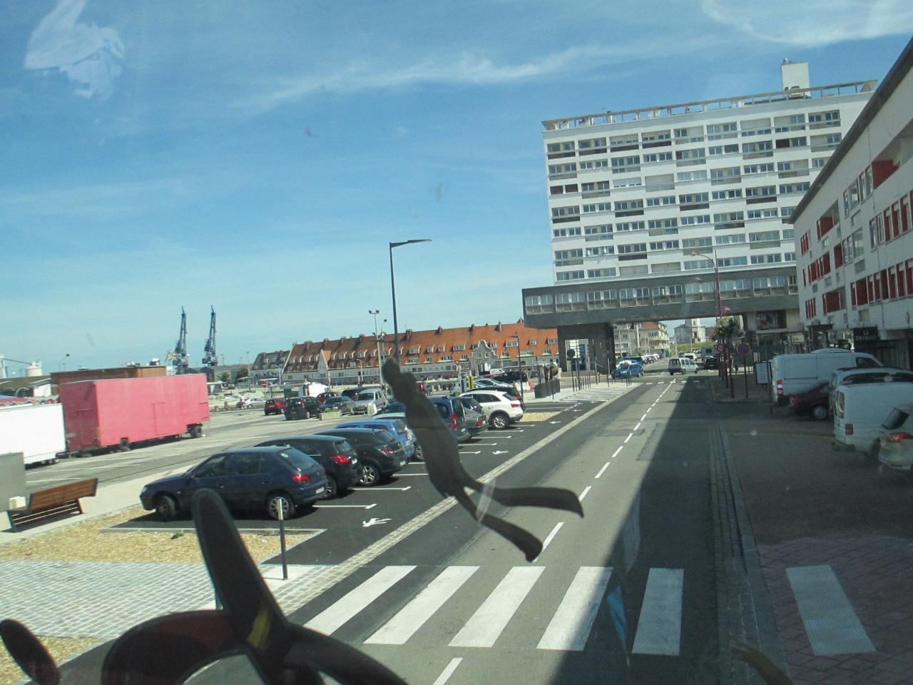 Calais, vue sur  le Courgain maritime