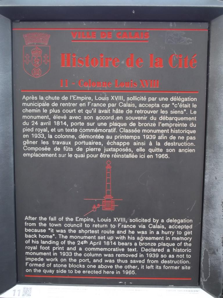 La colonne Louis XVIII