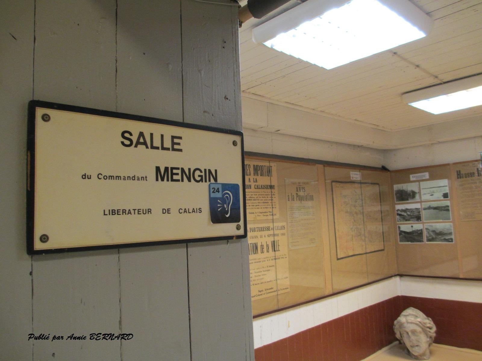 Salle pour le Commandant Mengin, libérateur de Calais