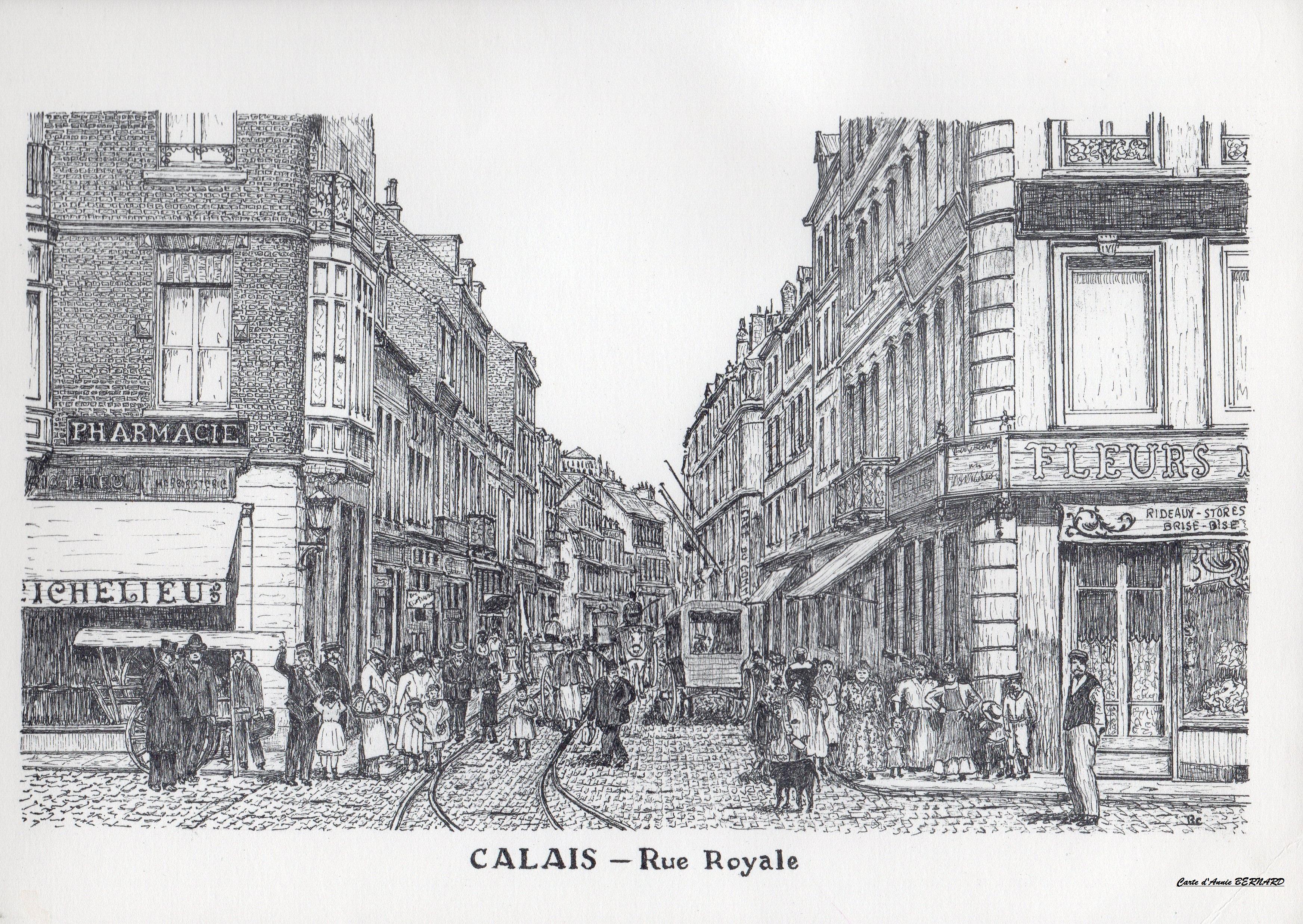 Calais rétro, rue Royale