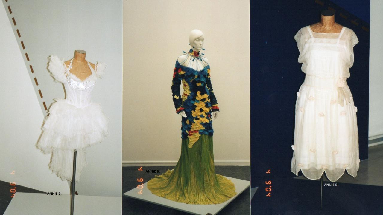 En 2004 exposition de robes de jeunes créateurs au musée des Beaux Arts de Calais