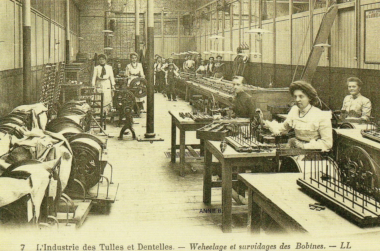L'industrie des tulles et dentelle au siècle dernier