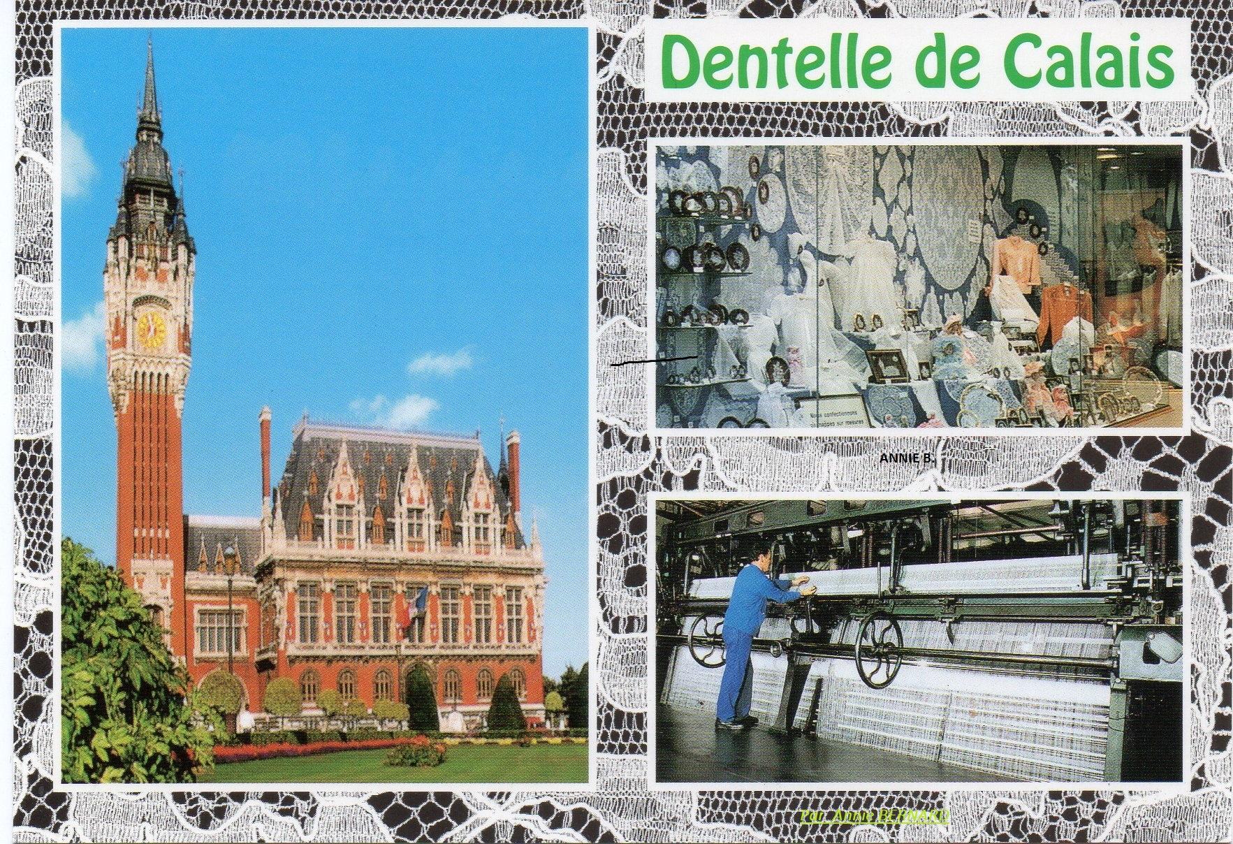 Carte postale sur Calais Dentelle