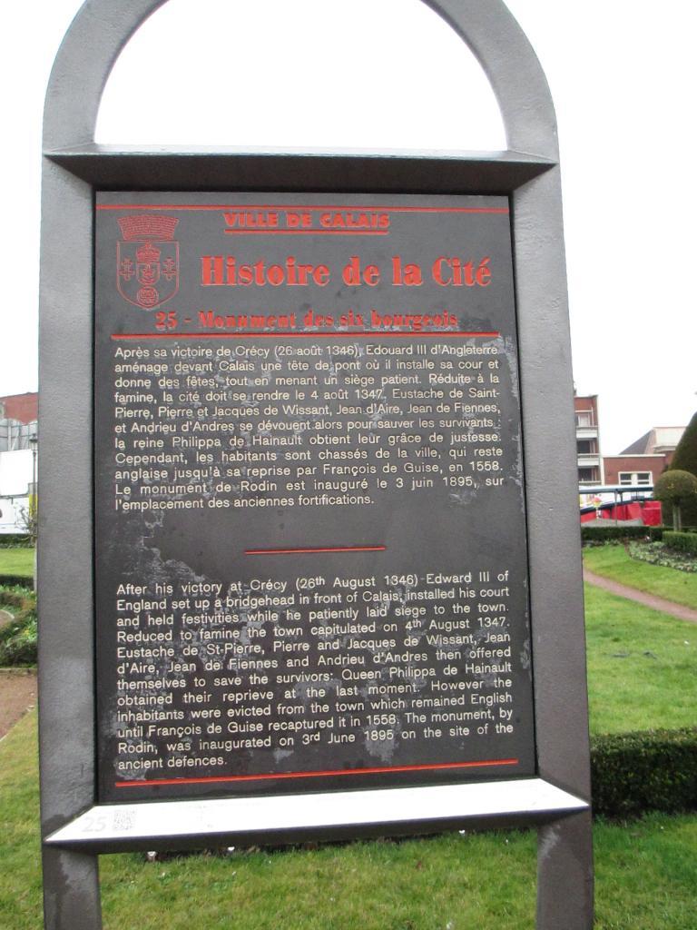 Bourgeois de Calais, explications