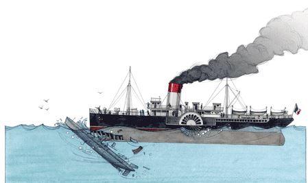 Naufrage du Pluviôse en 1910 au large de Calais