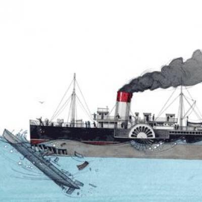Le naufrage du Pluviôse en mai 1910 au large de Calais