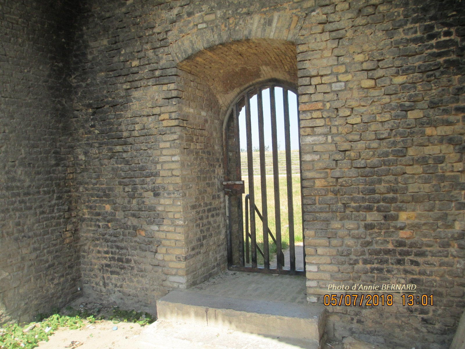 Porte voûtée en fer