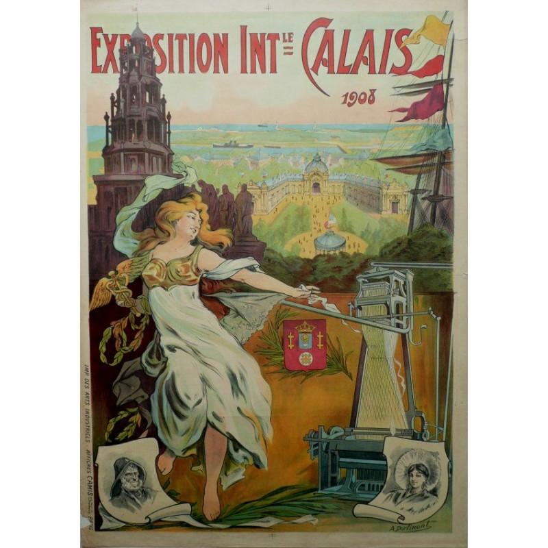 Affiche rétro sur Calais