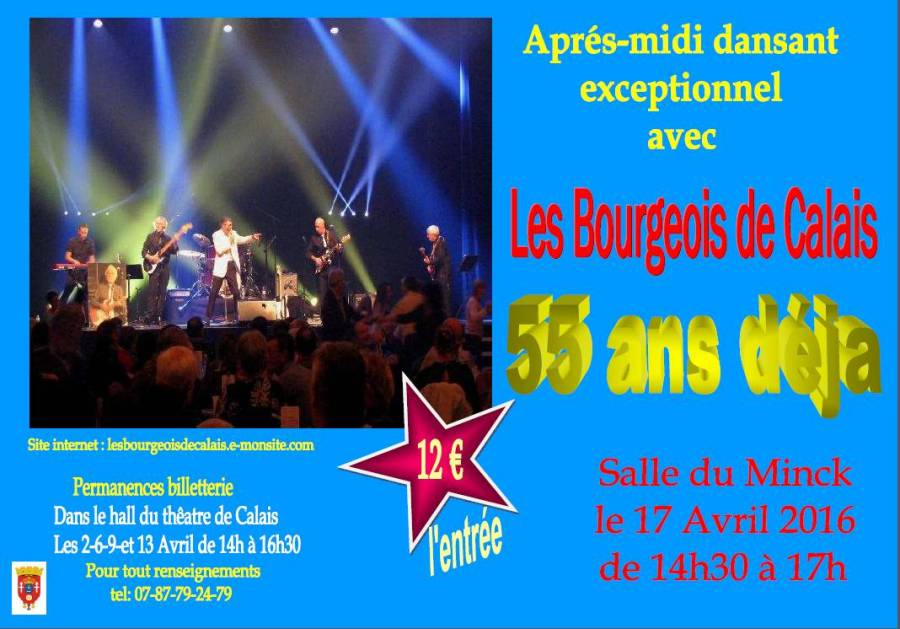 """Affiche du 17 avril 2016 du Groupe calaisien  """"Les Six Bourgeois de Calais"""""""