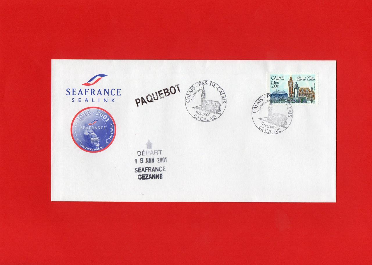 Pour le Paquebot Cezanne Seafrance en juin 2001