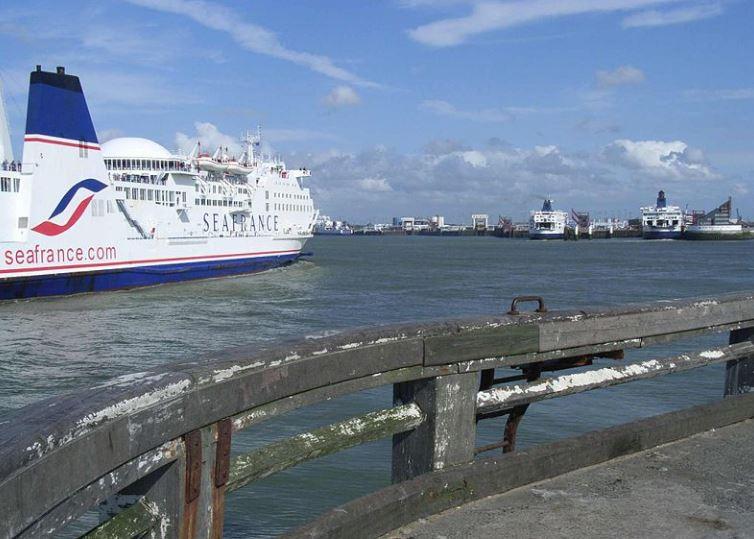 Calais  et les bâteaux de la compagnie Seafrance