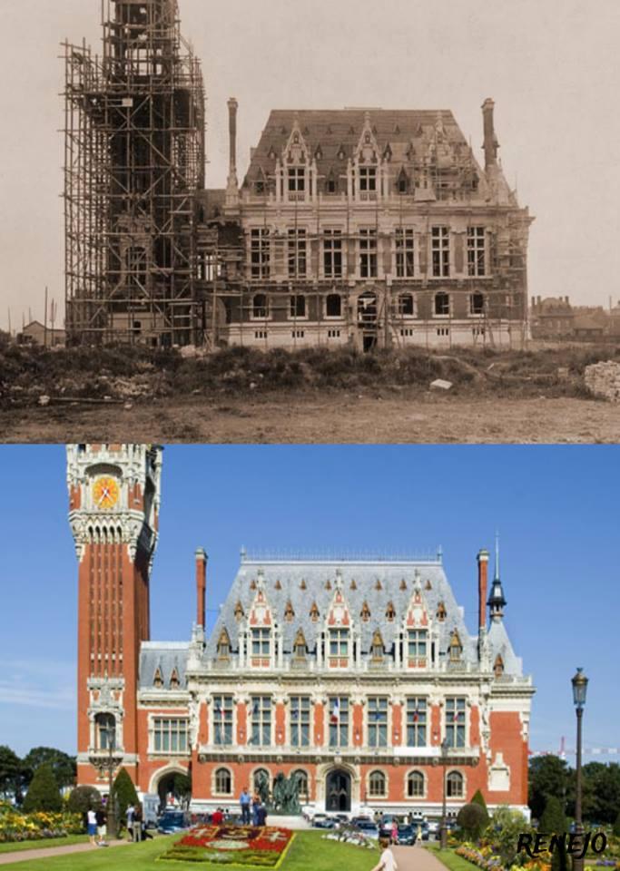 L' Hôtel de ville de Calais hier et aujourd'hui