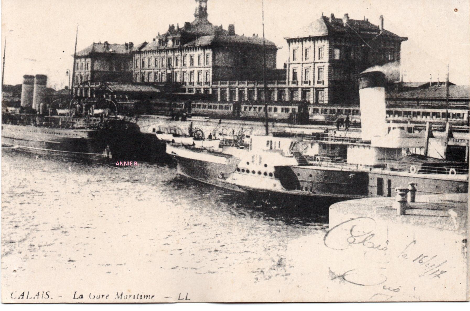 Ancienne gare maritime proche du Courgain maritime de Calais