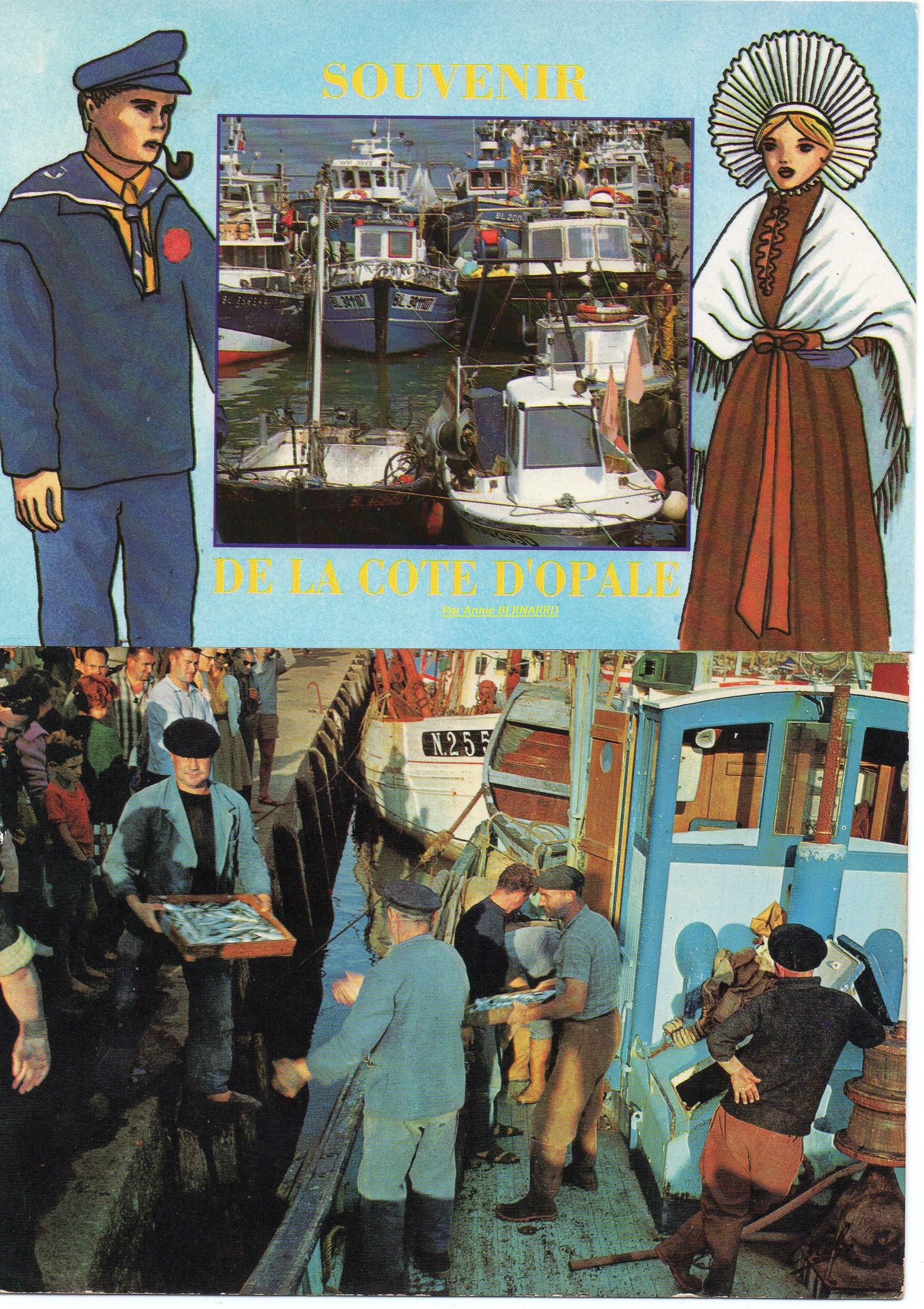 Courgain maritime de Calais et un retour de pêche