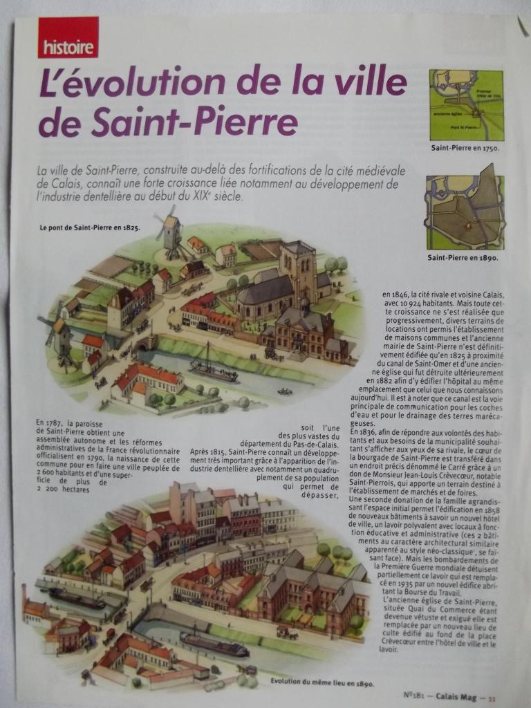 Evolution de la ville de Saint-Pierre 1