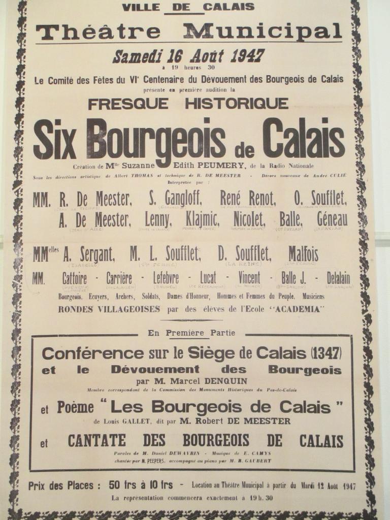 Fresque historique sur les Six Bourgeois de Calais