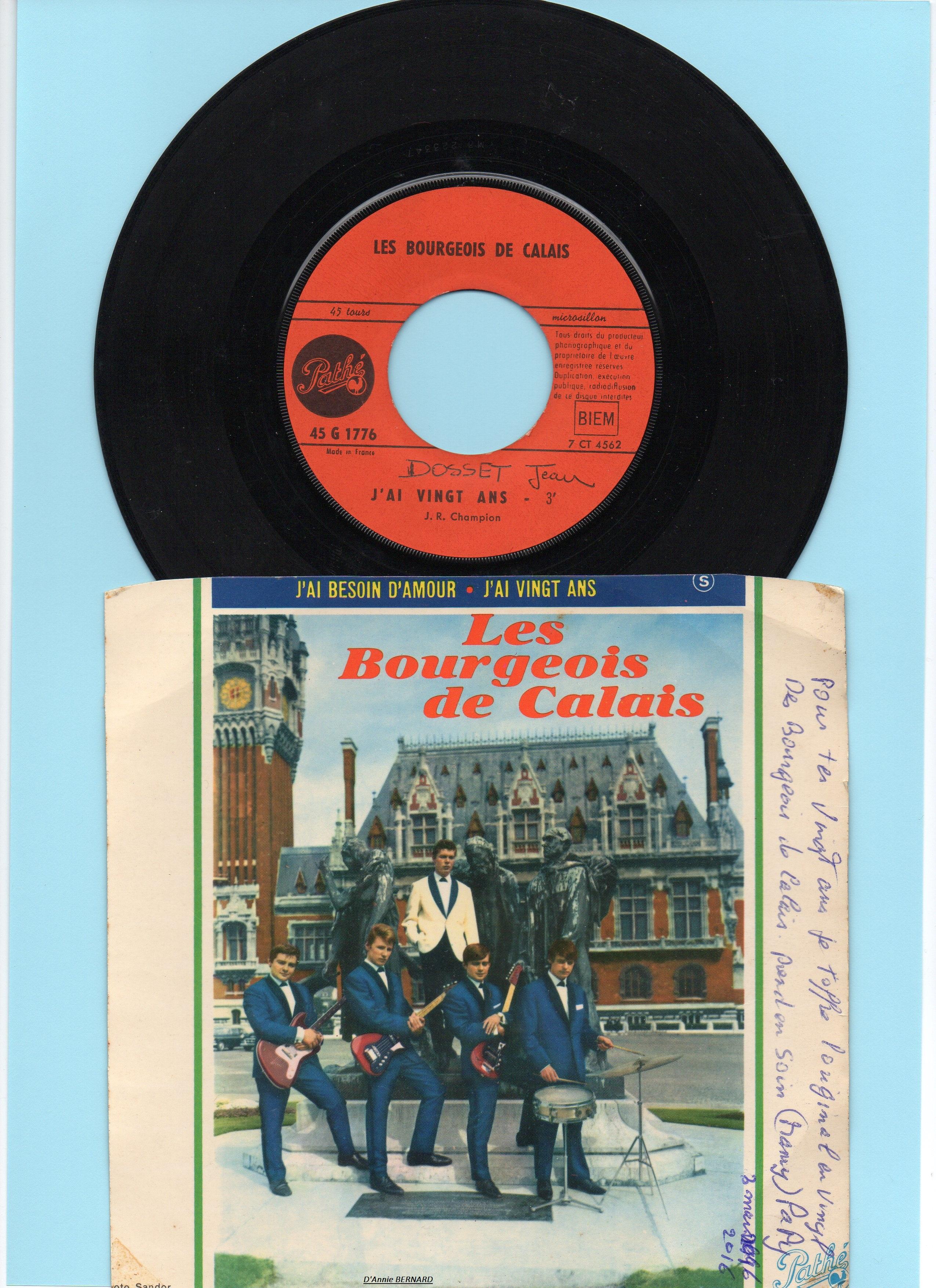 Groupe musical les Six Bourgeois de Calais en 1962