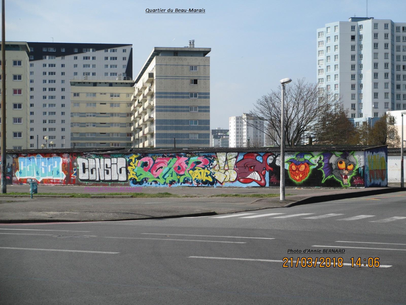 Quartier du Beau-Marais et de l'art urbain